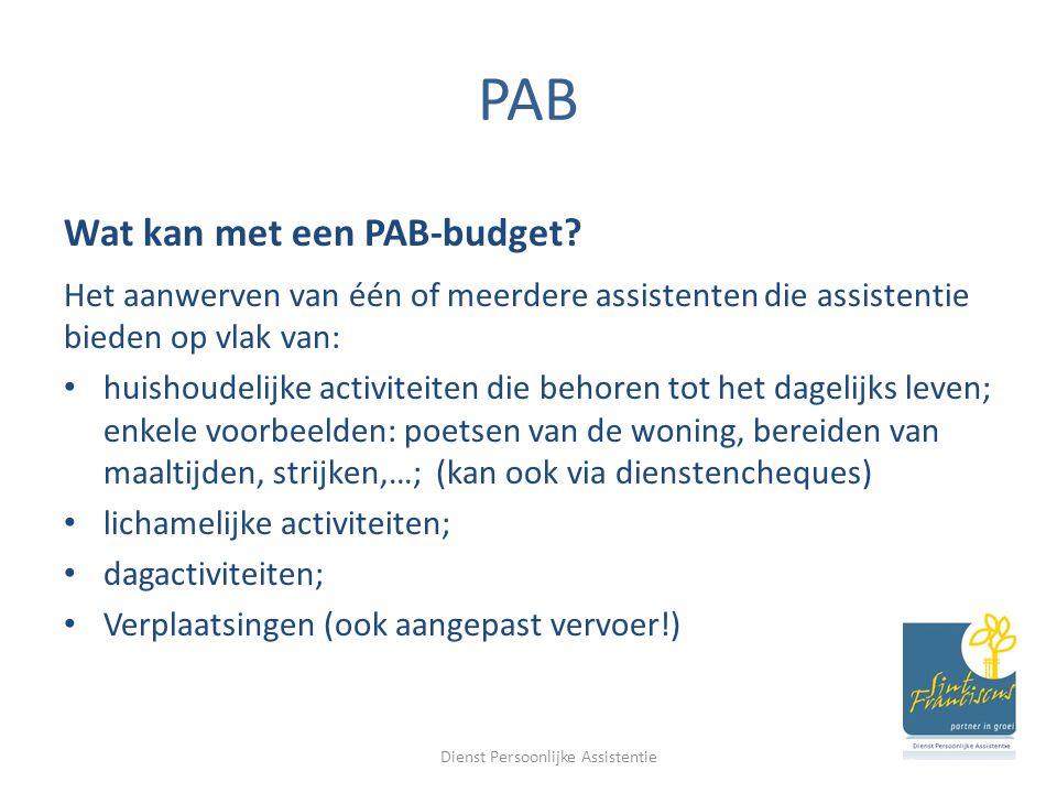 PAB Wat kan met een PAB-budget.