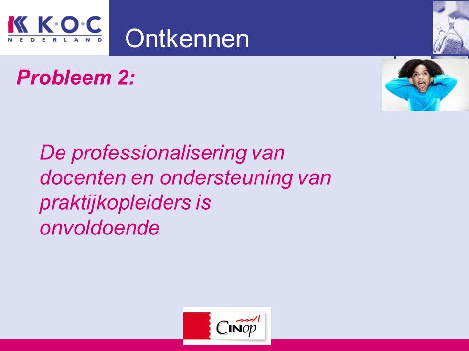 Ontkennen Probleem 2: De professionalisering van docenten en ondersteuning van praktijkopleiders is onvoldoende