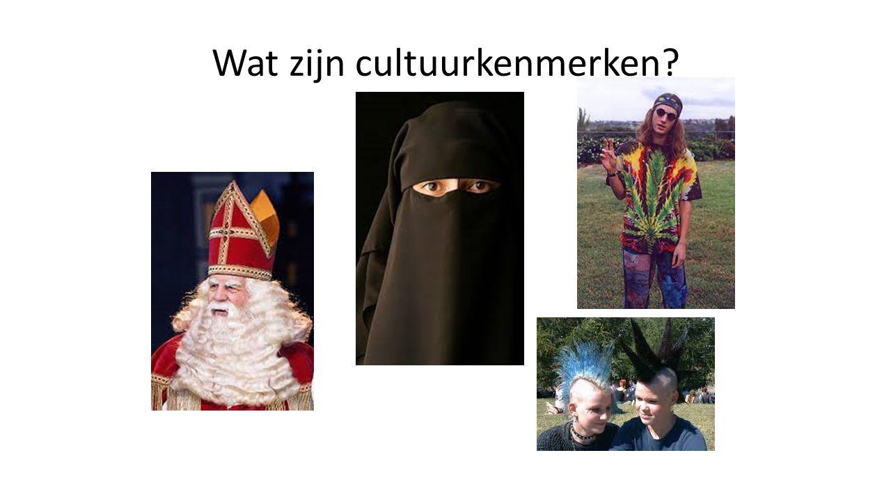 Wat zijn cultuurkenmerken?