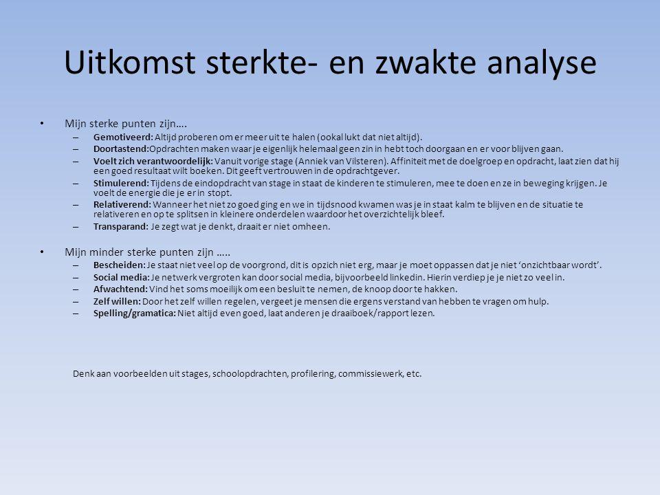 Ik heb van de volgende mensen feedback gekregen – Anniek van Vilsteren.