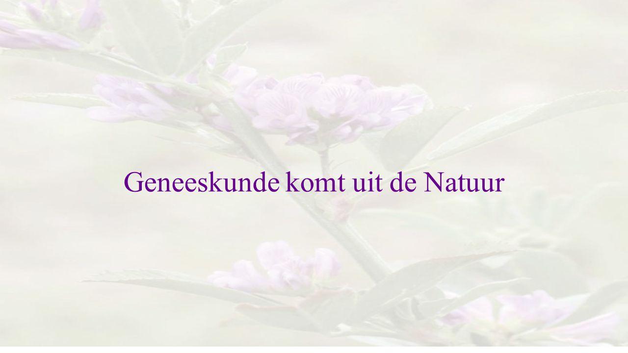 Geneeskunde komt uit de Natuur
