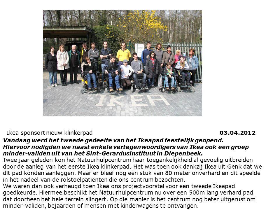Ikea sponsort nieuw klinkerpad 03.04.2012 Vandaag werd het tweede gedeelte van het Ikeapad feestelijk geopend. Hiervoor nodigden we naast enkele verte