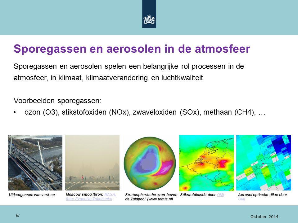 Sporegassen en aerosolen in de atmosfeer 5/ Oktober 2014 Sporegassen en aerosolen spelen een belangrijke rol processen in de atmosfeer, in klimaat, kl