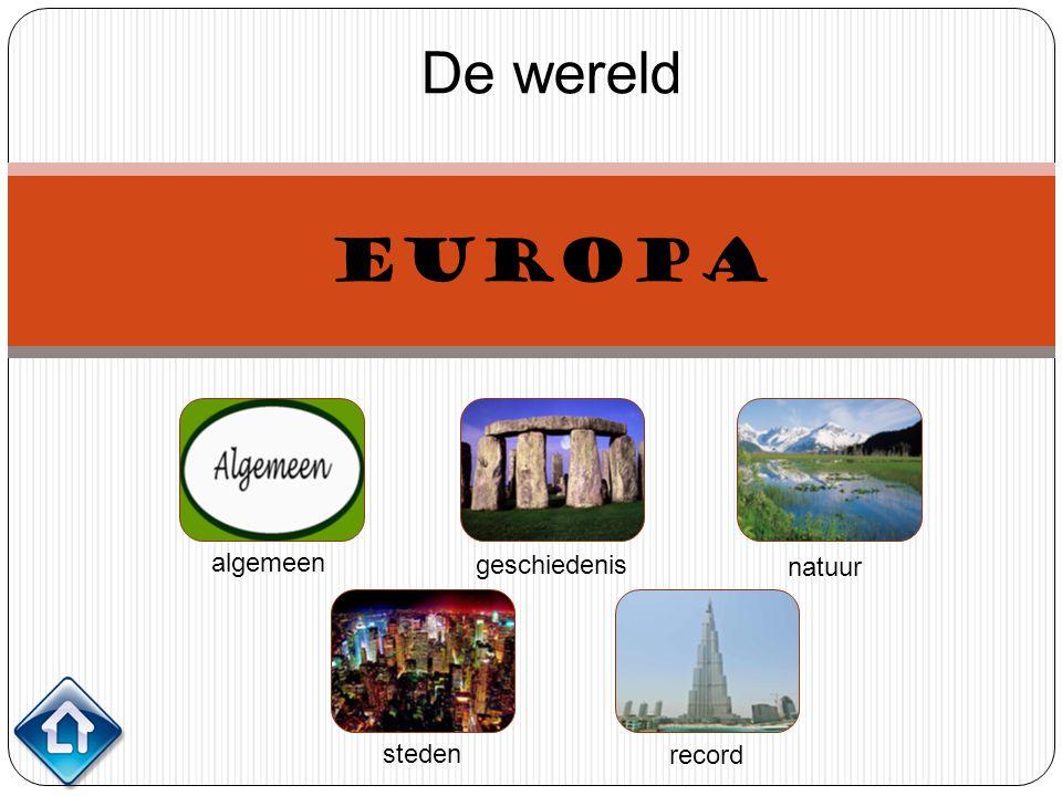 Europa algemeen geschiedenis natuur steden record