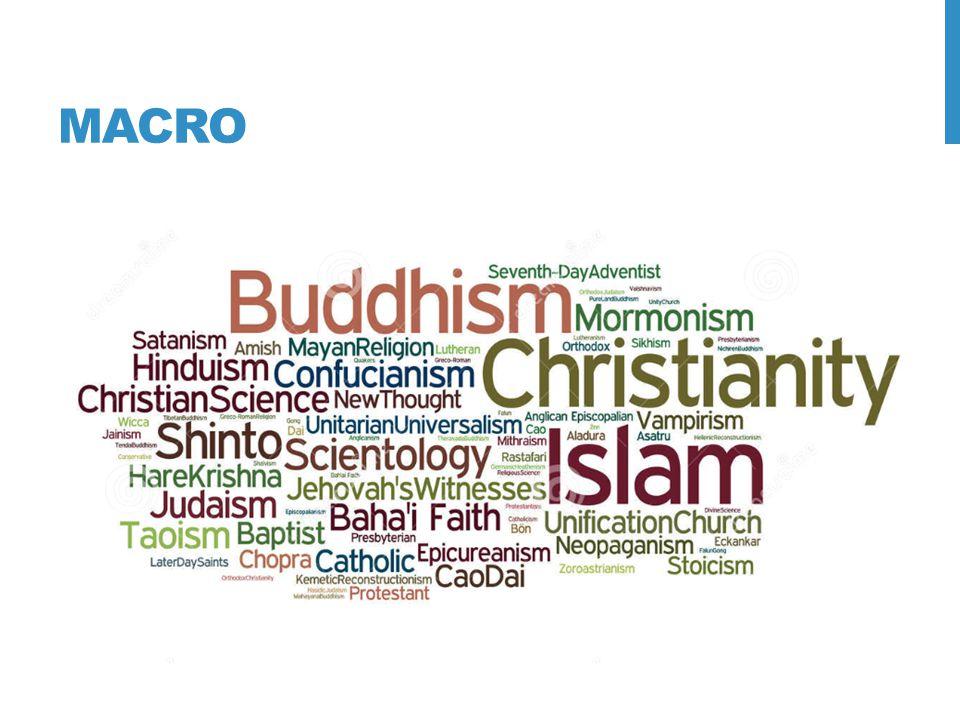 MESO 5 grootste godsdiensten