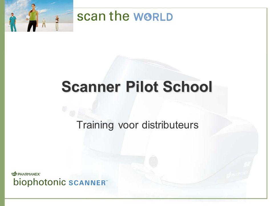 Scanner Pilot School: distributeurs Distributeurs die zich voor een Scanner gekwalificeerd hebben: –Stap 2: certificatietraining en -test De Account Manager nodigt u tijdens het welkomstgesprek uit om naar de certificatiepresentatie te gaan en de test te doen.