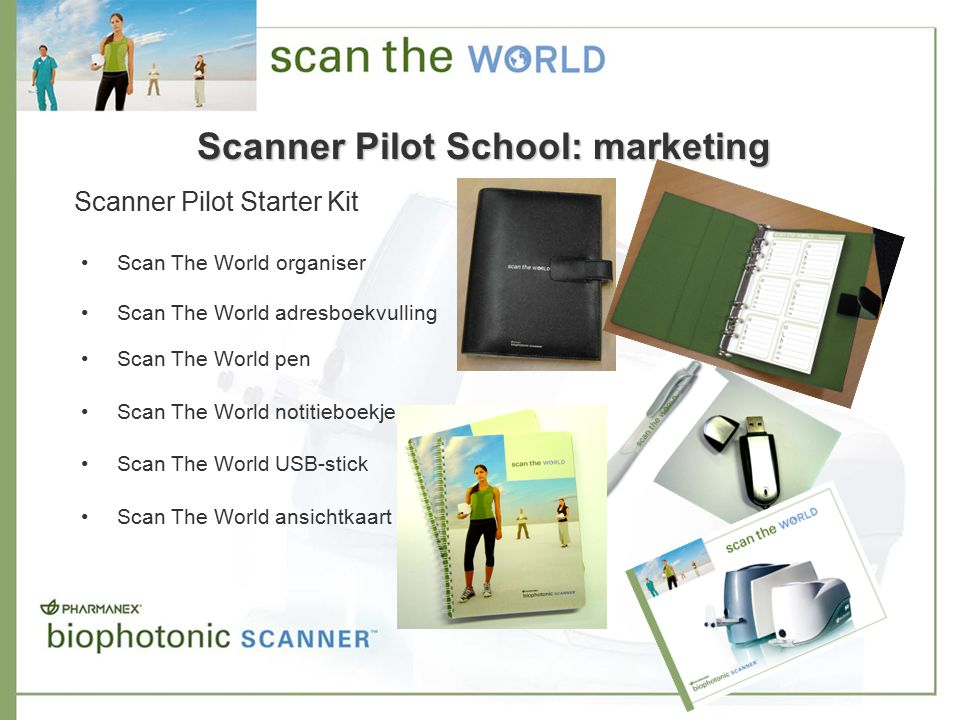 Scan The World organiser Scan The World adresboekvulling Scan The World pen Scan The World notitieboekje Scan The World USB-stick Scan The World ansic