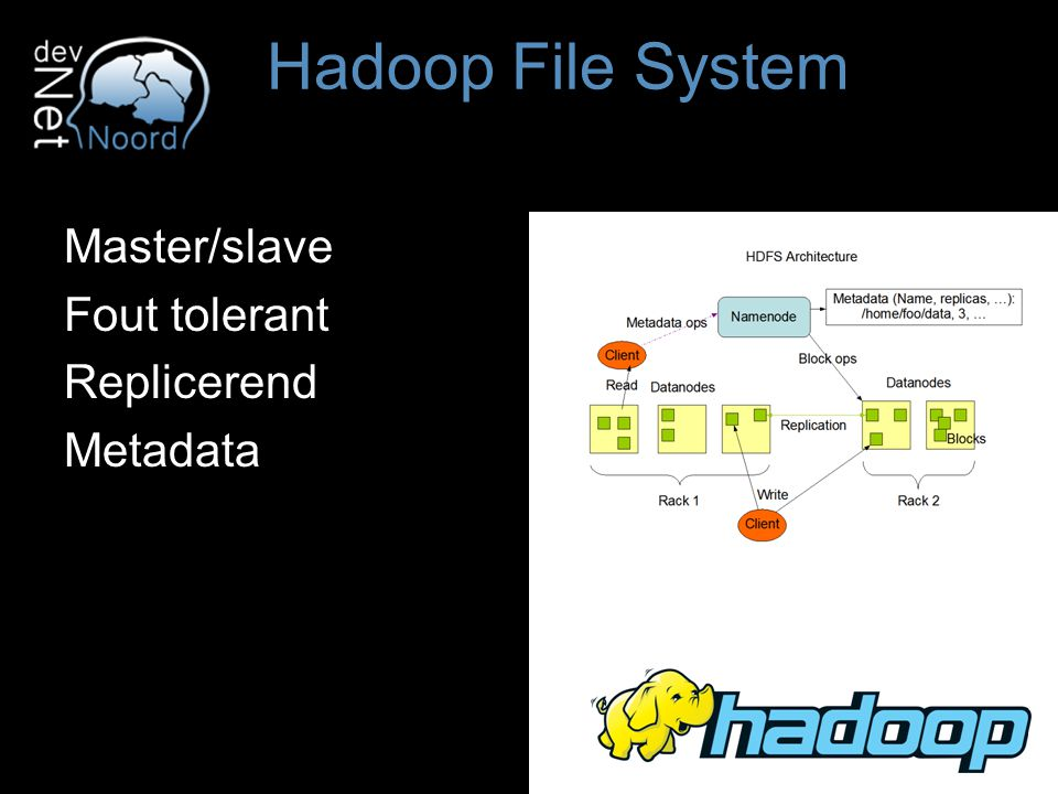 Master/slave Fout tolerant Replicerend Metadata Hadoop File System