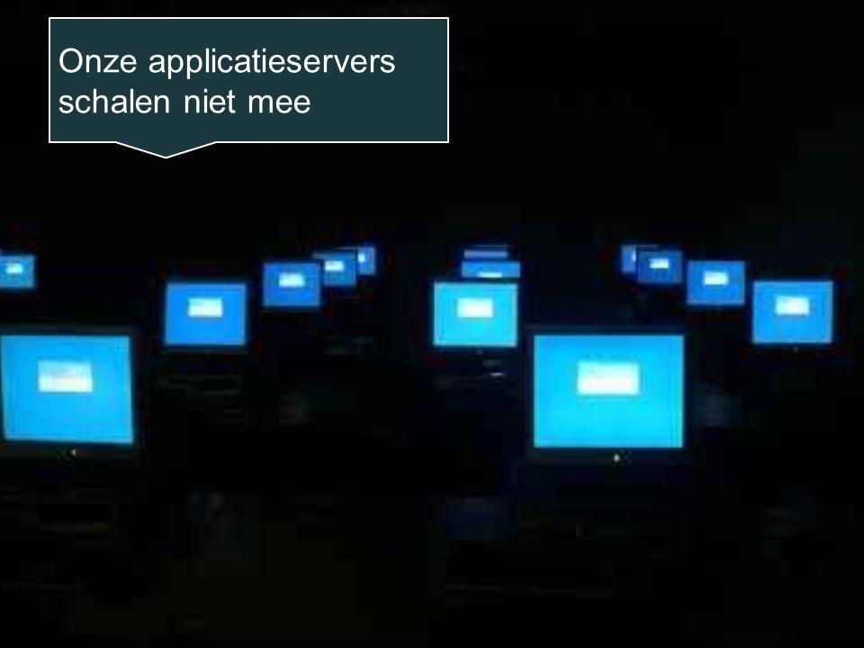 Onze applicatieservers schalen niet mee