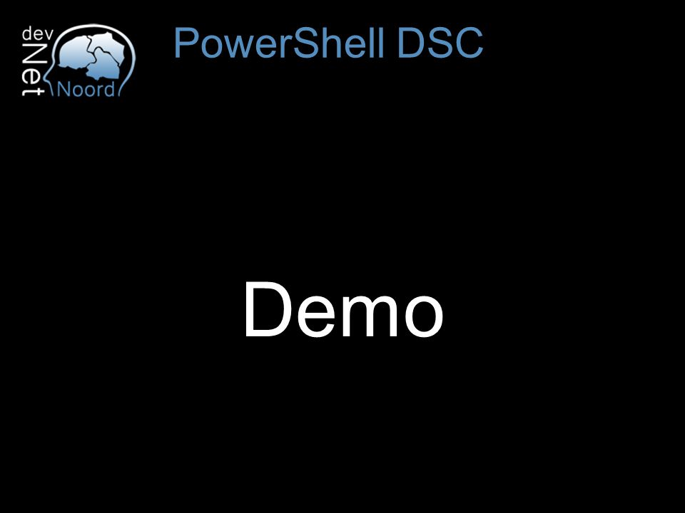 Demo PowerShell DSC