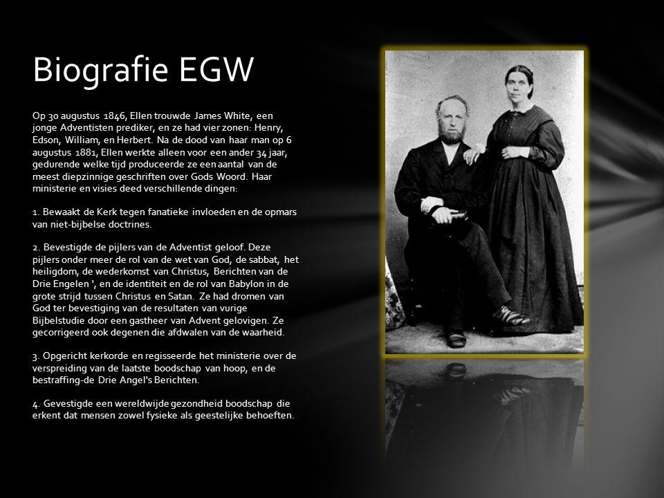 Op 30 augustus 1846, Ellen trouwde James White, een jonge Adventisten prediker, en ze had vier zonen: Henry, Edson, William, en Herbert. Na de dood va