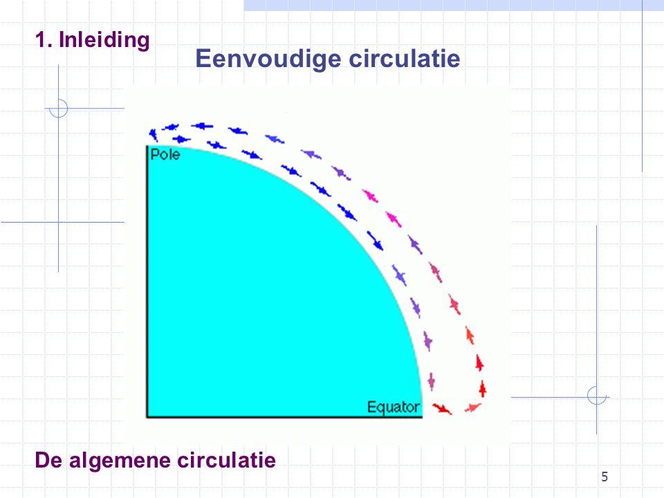 5 De algemene circulatie 1. Inleiding Eenvoudige circulatie