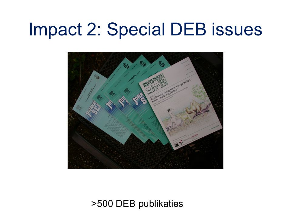 Impact 2: Special DEB issues >500 DEB publikaties