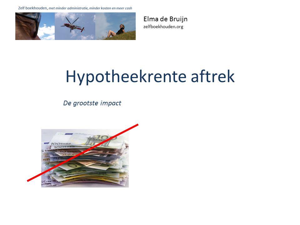 Hypotheekrente aftrek Elma de Bruijn zelfboekhouden.org De grootste impact