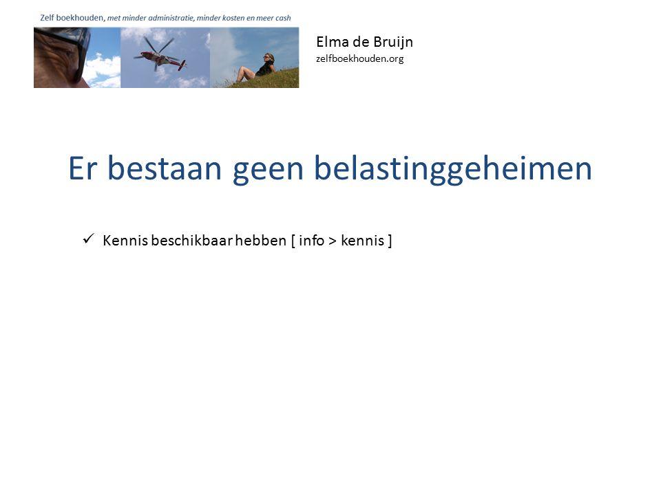 Elma de Bruijn zelfboekhouden.org Kennis beschikbaar hebben [ info > kennis ]