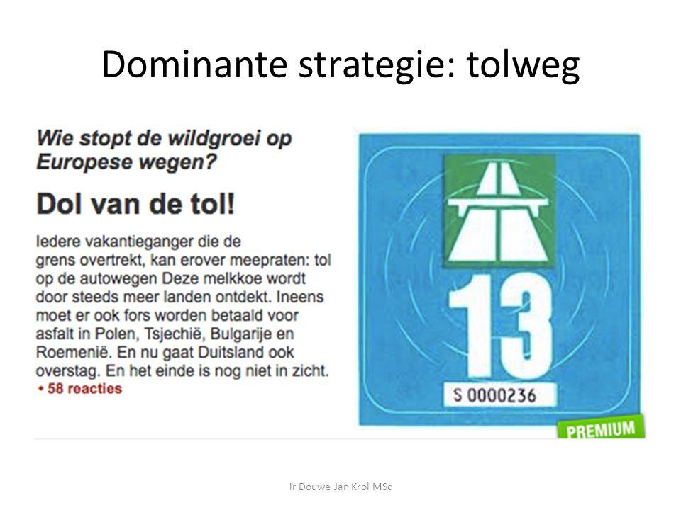 Dominante strategie: tolweg ir Douwe Jan Krol MSc