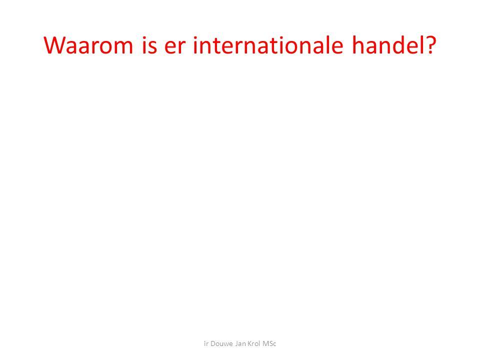 Waarom is er internationale handel? ir Douwe Jan Krol MSc
