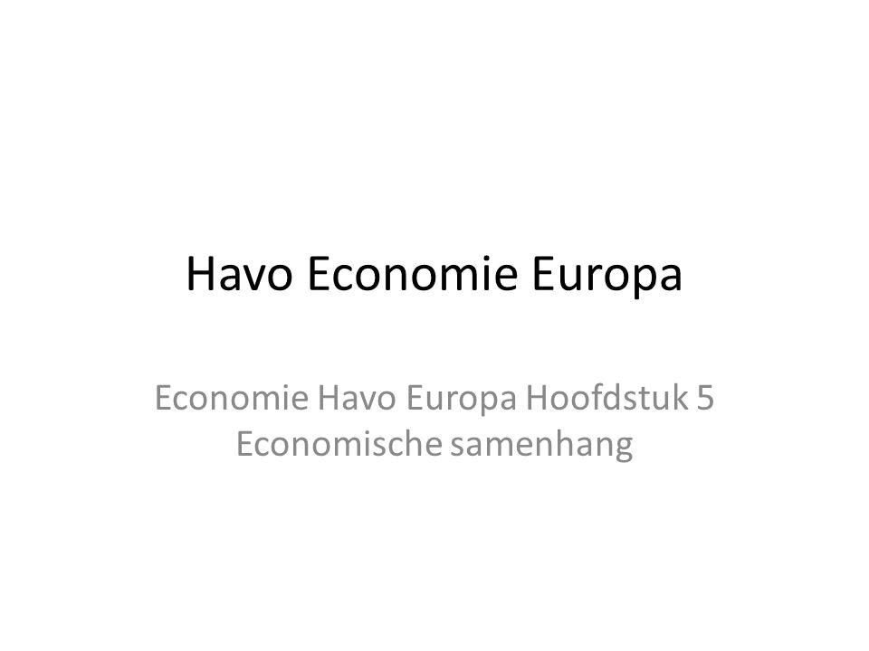 Havo Economie Europa Economie Havo Europa Hoofdstuk 5 Economische samenhang