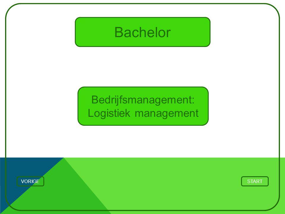 Bachelor Bedrijfsmanagement: Logistiek management STARTVORIGE