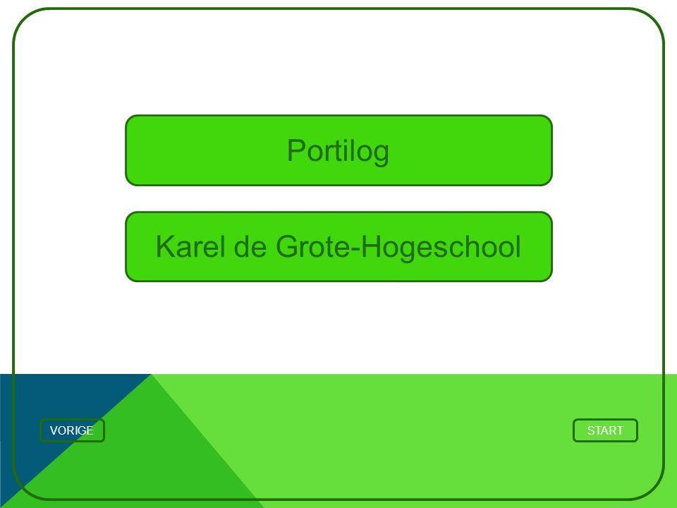 STARTVORIGE Portilog Karel de Grote-Hogeschool