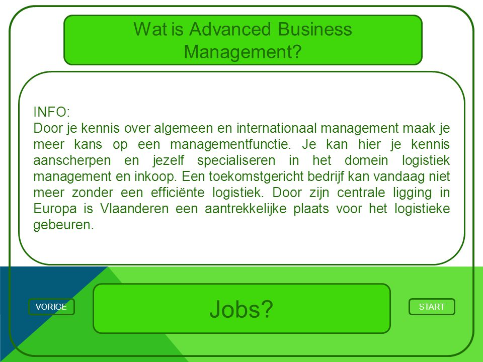 Wat is Advanced Business Management.