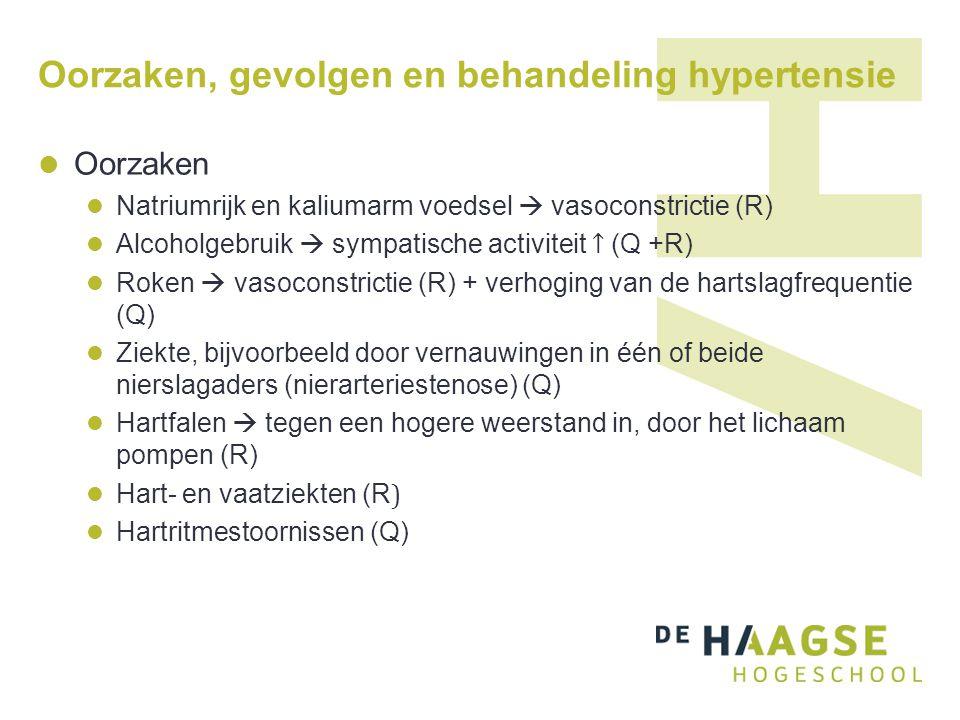 Oorzaken, gevolgen en behandeling hypertensie Gevolgen Slagaderverkalking Hartproblemen Beroerte Behandeling Matiging van het alcoholgebruik.
