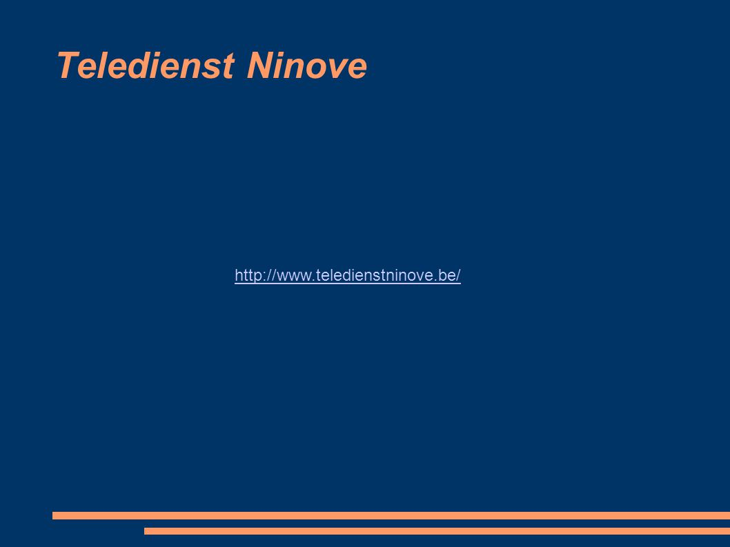 Teledienst Ninove http://www.teledienstninove.be/