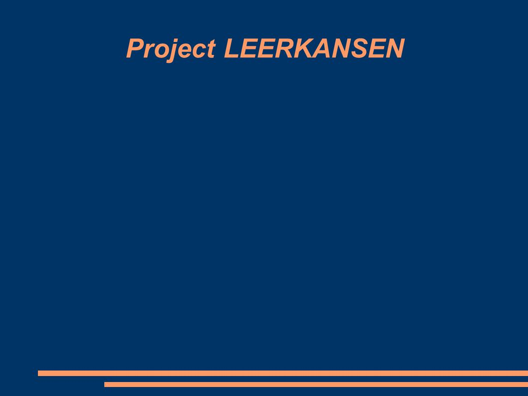 Project LEERKANSEN
