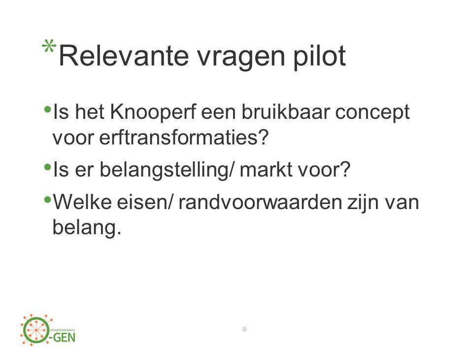 * Relevante vragen pilot Is het Knooperf een bruikbaar concept voor erftransformaties.