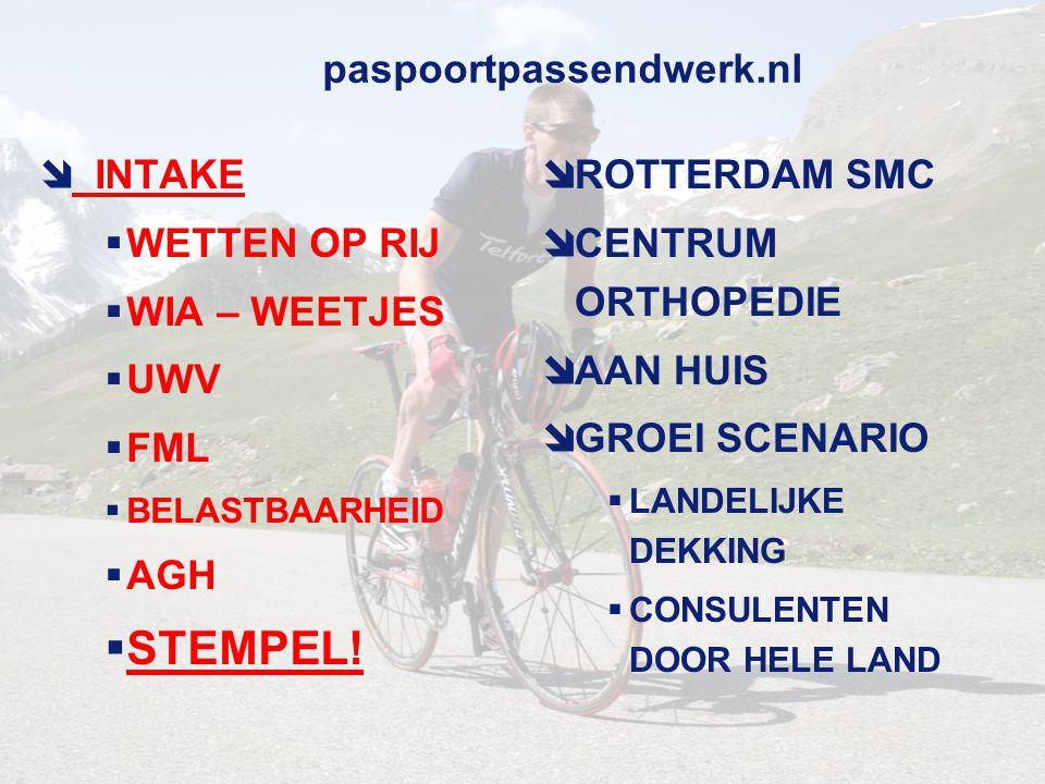 paspoortpassendwerk.nl  HOE: METINGEN  ONDERZOEK  LICHAMELIJK  GEWRICHTEN  SPIEREN  BLOED  CONDITIETEST  LONGFUNCTIE  OGEN LENGTE GEW  WAT: FML  6 GEBIEDEN  PERSOONLIJK  SOCIAAL  OMSTANDIGHEDEN  DYNAMISCH  STATISCH  WERKTIJDEN  VRAGENLIJSTEN  Wonen Werken Slapen  Eten Plezier