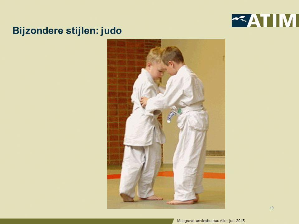 Bijzondere stijlen: judo Mdegrave, adviesbureau Atim, juni 2015 13