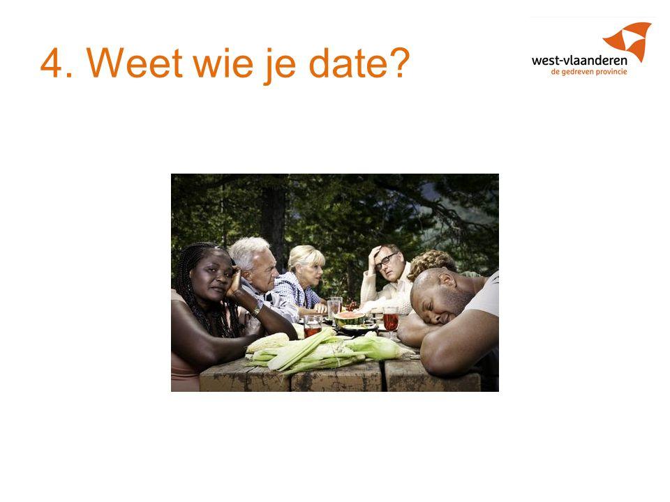 4. Weet wie je date?