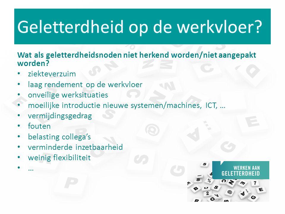 Toolbox werd ontwikkeld om te werken aan geletterdheidsnoden op de werkvloer -Website: tools en goede praktijken -Methodiek: werken op maat -Samenwerking Centra voor basiseducatie en sectoren