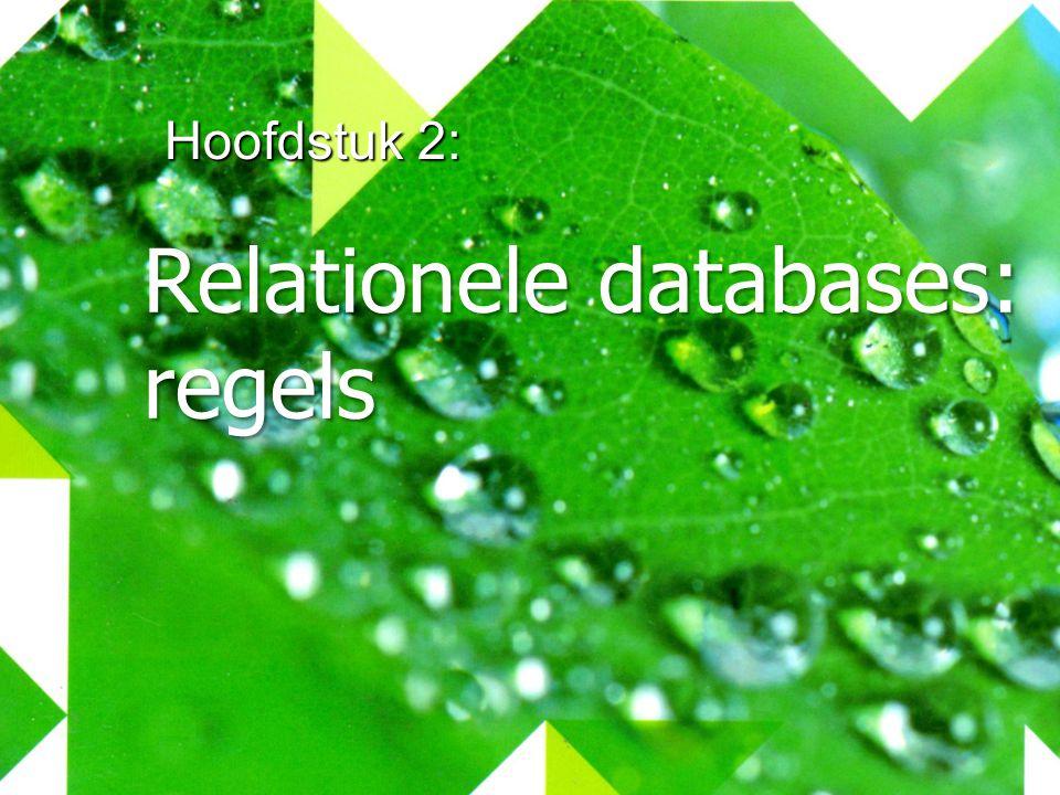 Hoofdstuk 2: Relationele databases: regels