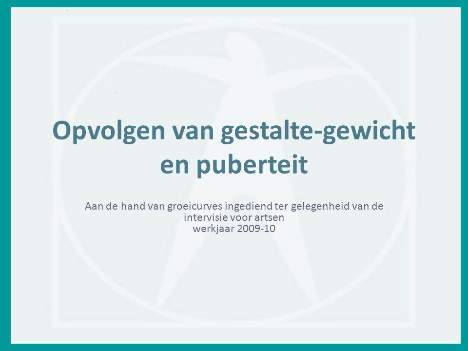Opvolgen van gestalte-gewicht en puberteit Aan de hand van groeicurves ingediend ter gelegenheid van de intervisie voor artsen werkjaar 2009-10