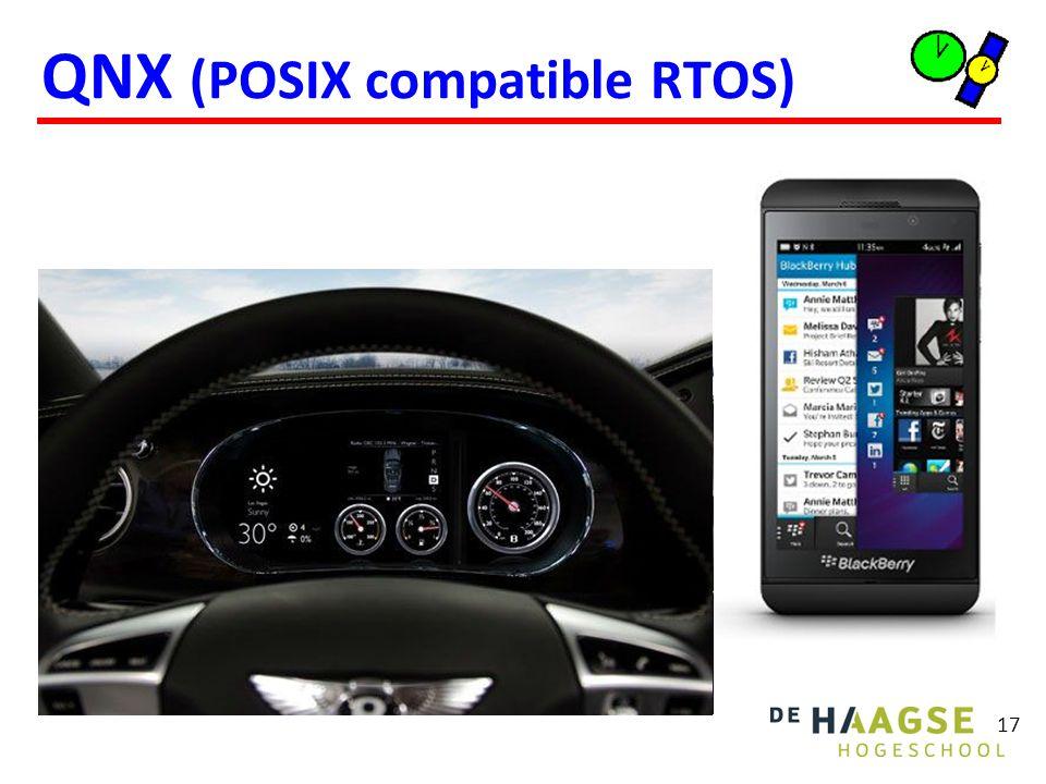 QNX (POSIX compatible RTOS) 17