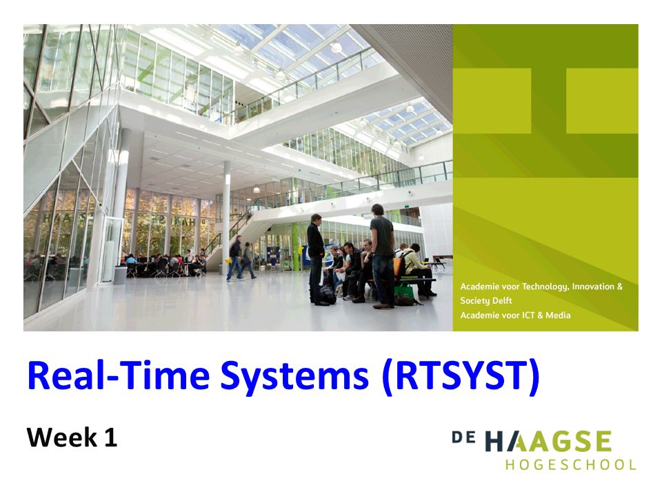 2 Real-Time Systems (RTSYST) Onderwerpen: Concurrent programming (threads).
