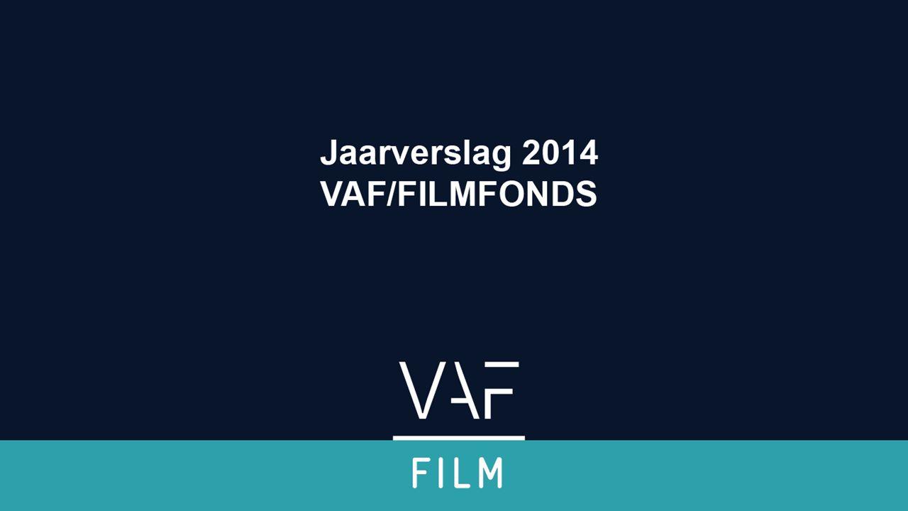 2014 in cijfers 479.176 Video-On-Demand transacties (1 transactie staat voor gemiddeld 1,7 kijkers) 814.599 kijkers voor Vlaamse (co)producties De meest bekeken film op Belgacom/Proximus is –Kampioen zijn blijft plezant* (is ook meest bekeken VL film op Telenet) Vlaamse toppers op (S)VOD: –Kampioen zijn blijft plezant –Marina –Het vonnis –De behandeling –Halfweg Animatiefilms hebben belangrijk aandeel (S)VOD markt (23,9%) Waar zijn de auteursfilms, documentaires, … Jaarverslag 2014 Filmfonds