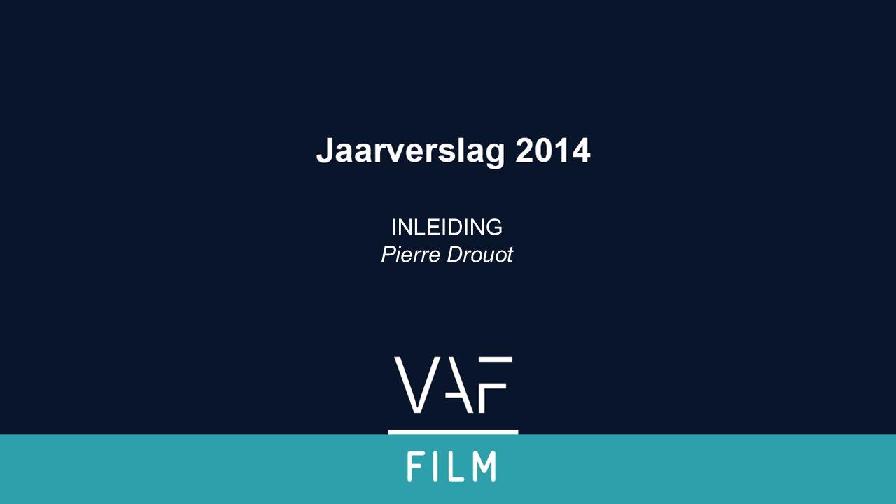 2014 in cijfers Krimpende dvd en blu-ray markt Ten voordele van (S)VOD (minder onderhevig aan impulsaankopen) Weinig cijfermateriaal beschikbaar Best verkopende Vlaamse films (voor het eerst uitgebracht in 2014) ‒ Het vonnis ‒ Marina ‒ De behandeling Jaarverslag 2014 Filmfonds