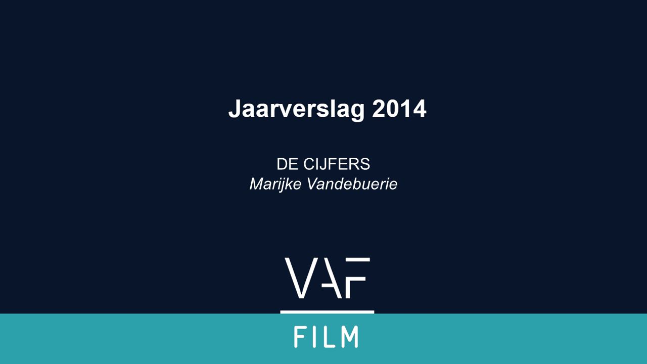 Boekhoudkundige cijfers 2014 Filmfonds Jaarverslag 2014 Filmfonds