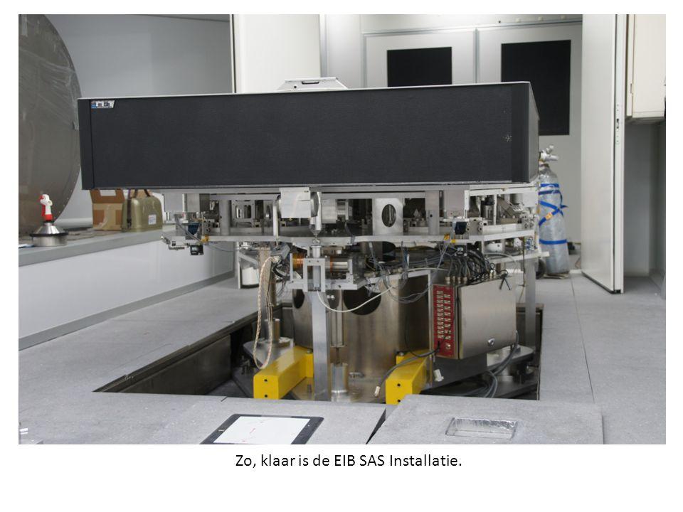 Zo, klaar is de EIB SAS Installatie.