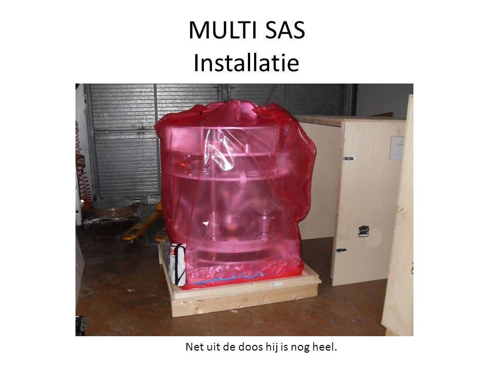 MULTI SAS Installatie Net uit de doos hij is nog heel.