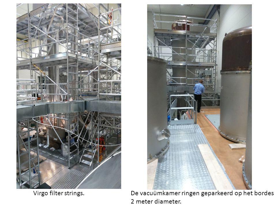 Virgo filter strings. De vacuümkamer ringen geparkeerd op het bordes 2 meter diameter.