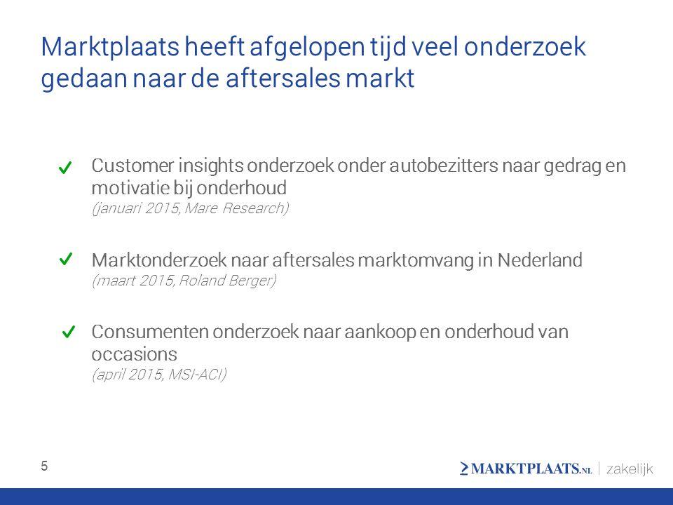 Agenda voor vandaag Gedrag van autokopers en autobezitters Het online aftersales landschap in Nederland 6