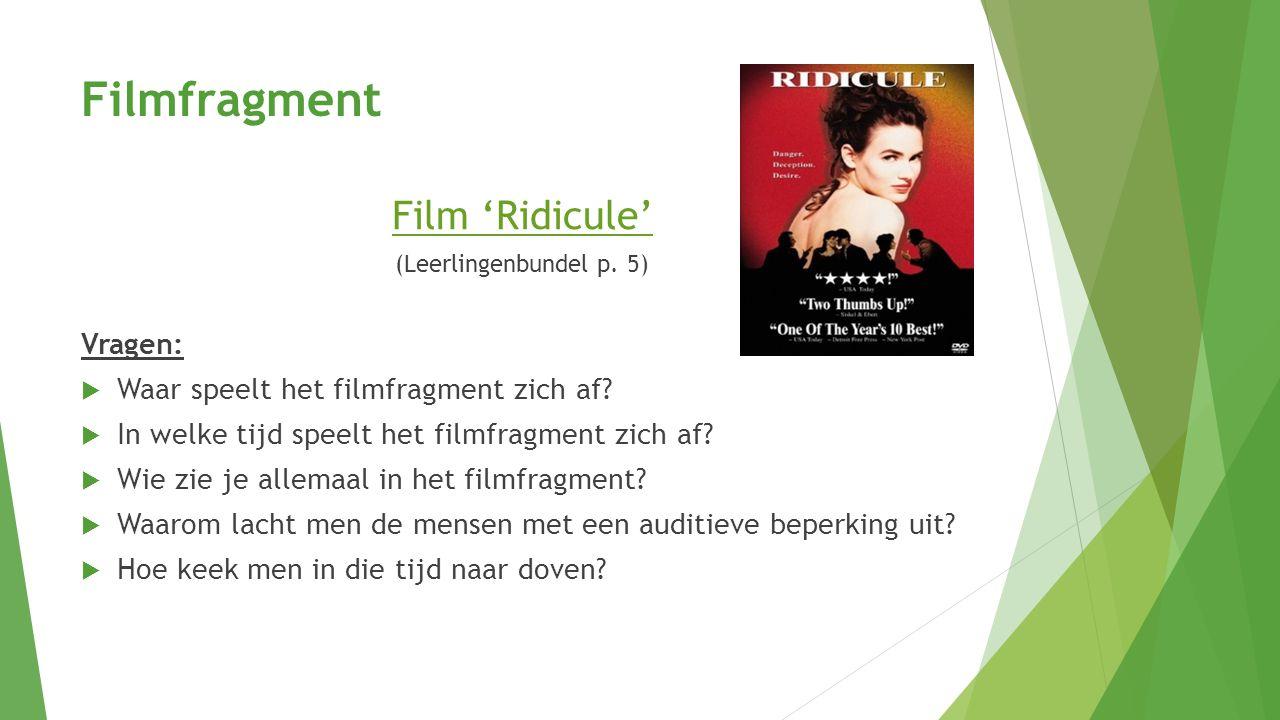Filmfragment Film 'Ridicule' (Leerlingenbundel p.