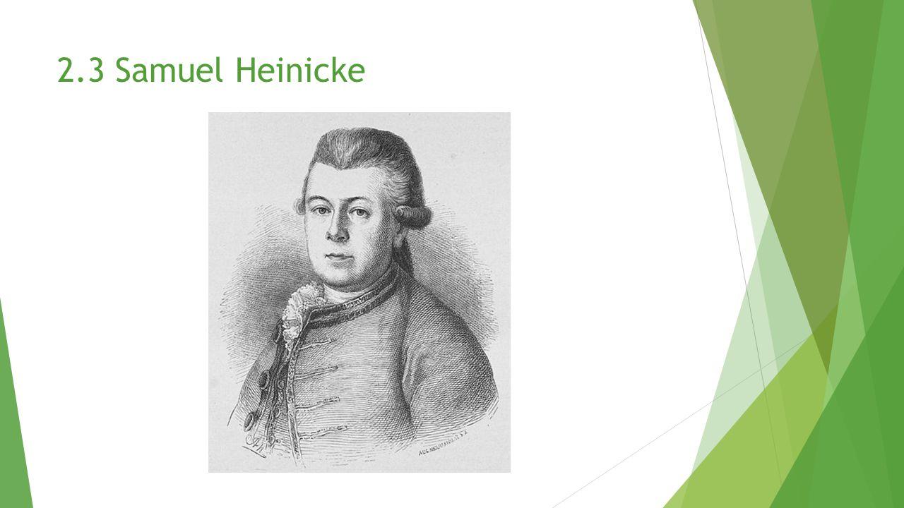 2.3 Samuel Heinicke
