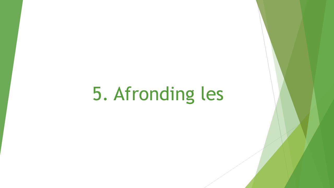 5. Afronding les