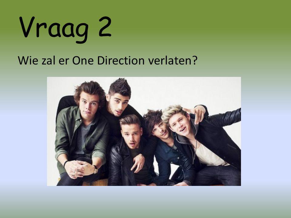 Vraag 2 Wie zal er One Direction verlaten?