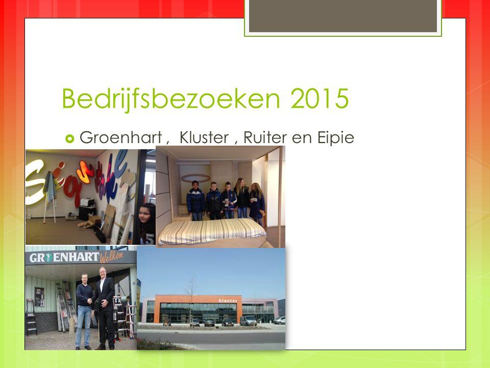 Bedrijfsbezoeken 2015  Groenhart, Kluster, Ruiter en Eipie