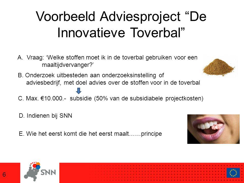 Voorbeeld Adviesproject De Innovatieve Toverbal 6 D.